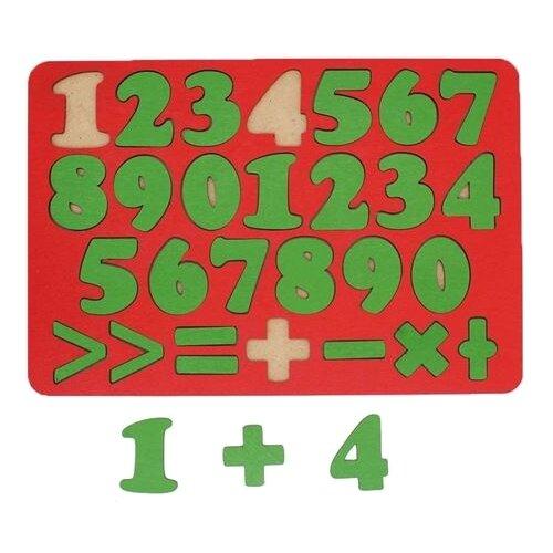Купить Рамка-вкладыш TAU TOY Арифметика 27 знаков (6101133/6101132), 27 дет. красный/зеленый, Пазлы