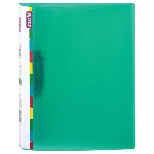 Купить Attache Папка с зажимом Diagonal А4, пластик зеленый, Файлы и папки
