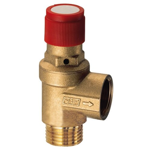 Фото - Предохранительный клапан FAR FA 2004 121215 муфтовый (ВР/НР), латунь, 1.5 бар, Ду 15 (1/2) / Ду 15 (1/2) запорный клапан far ft 1616 муфтовый нр нр латунь для радиаторов ду 15 1 2