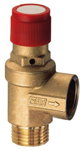 Предохранительный клапан FAR FA 2004 121215 муфтовый (ВР/НР), латунь, 1.5 бар, Ду 15 (1/2
