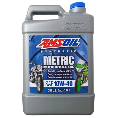 Моторное масло AMSOIL Synthetic Metric Motorcycle Oil 10W-40 3.784 л