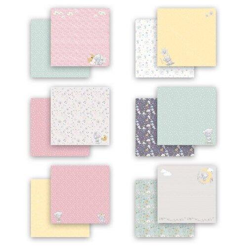 Купить Бумага Mr. Painter 30, 5x30, 5 см, 7 листов, MTY-PSR-K 190602 Наш малыш. Девочка розовый/желтый/голубой, Бумага и наборы