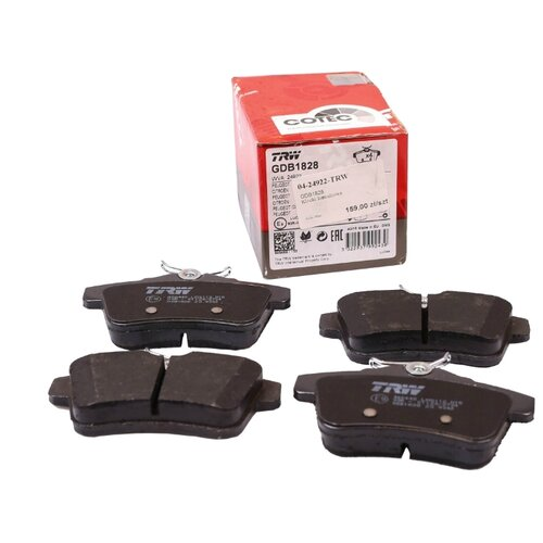 Дисковые тормозные колодки задние TRW GDB1828 для Peugeot, Citroen, DS Automobiles (4 шт.) фото