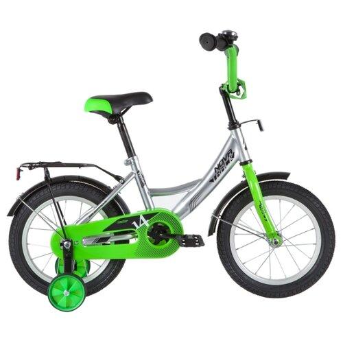 Детский велосипед Novatrack Vector 14 (2020) серебристый (требует финальной сборки)