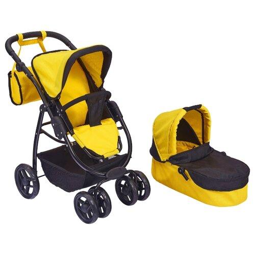 Купить Коляска-трансформер Buggy Boom Amidea (9662/8062/9000) желтый, Коляски для кукол