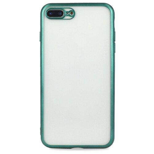 Матовый силиконовый чехол для Аpple iPhone 7 Plus и 8 Plus / Прозрачный чехол с бампером на Эпл Айфон 7 Плюс и 8 Плюс (Зеленый)