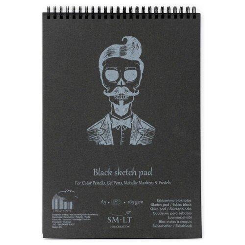 Купить Альбом для эскизов Smiltainis Authentic Black 21 х 14.8 см (A5), 165 г/м², 20 л., Альбомы для рисования
