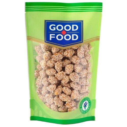 Фундук GOOD FOOD жареный с медом и кунжутом, пластиковый пакет 130 г конфеты good food марципановое пралине пакет 200 г