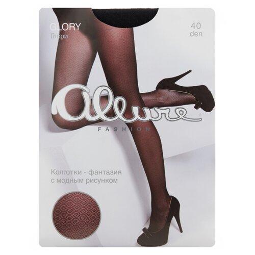 Колготки ALLURE Fashion Glory 40 den, размер 5, nero (черный)