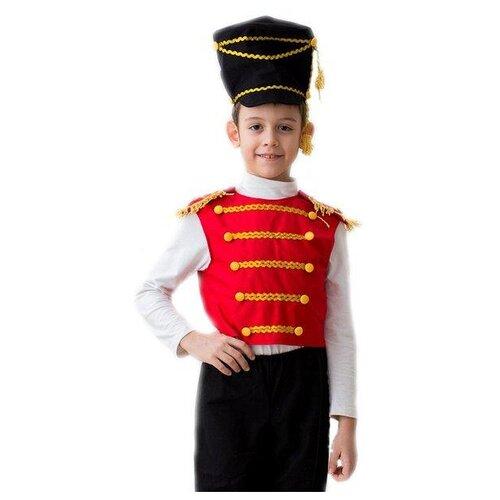 Купить Костюм Бока Гусар (без брюк), красный/белый, размер 122-134, Карнавальные костюмы