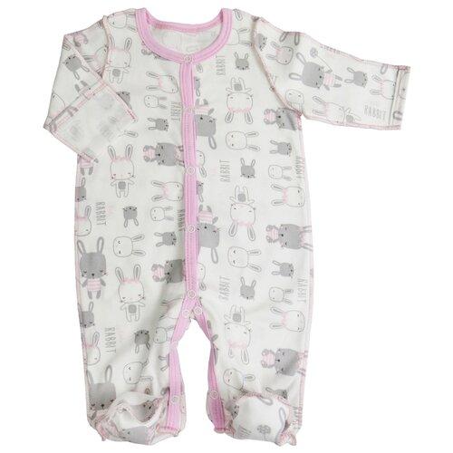 Купить Комбинезон Sonia Kids размер 56, белый/розовый, Комбинезоны