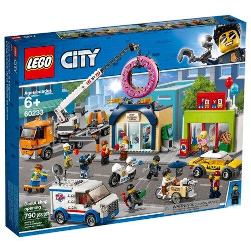 Конструктор LEGO City 60233 Открытие магазина по продаже пончиков конструктор city lego lego mp002xb00c9t