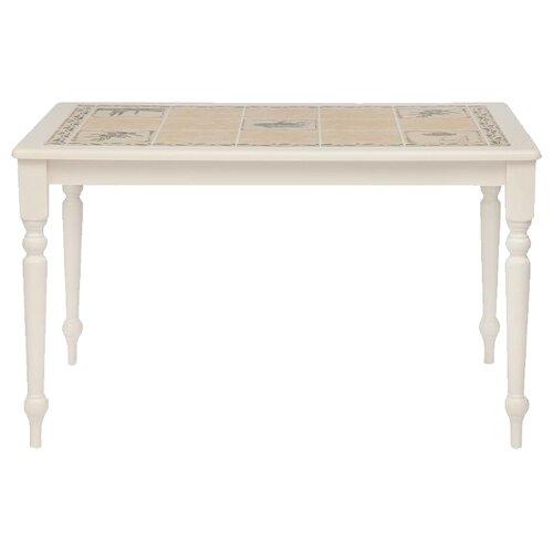 Стол кухонный TetChair CT 3349, ДхШ: 124 х 83.5 см, античный белый