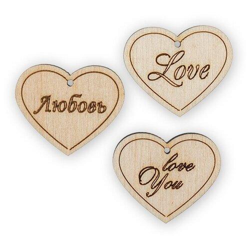 Купить Mr. Carving Набор заготовок для декорирования №3 Любовь ВД-391 (3 шт.) бежевый, Декоративные элементы и материалы