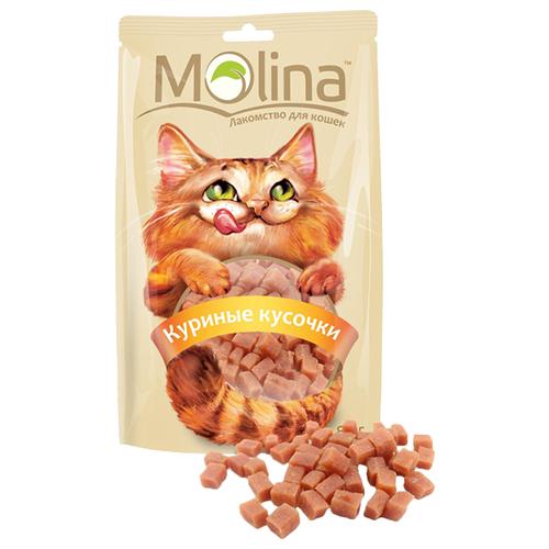 Лакомство для кошек Molina Куриные кусочки, 80г