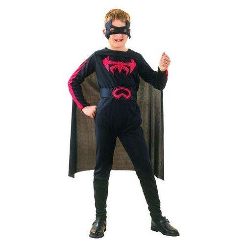 Костюм SNOWMEN Бэтмен Е6338, черный, размер 4-6 лет костюм snowmen человек огонь е94758 красный черный размер 4 6 лет