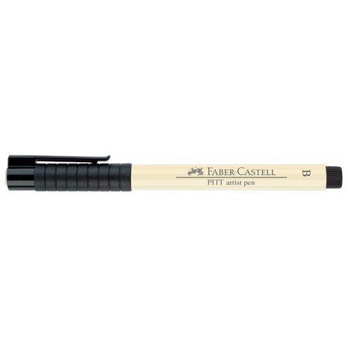 Faber-Castell ручка капиллярная Pitt Artist Pen Brush B, желтый цвет чернил faber castell ручка перьевая ambition birnbaum m