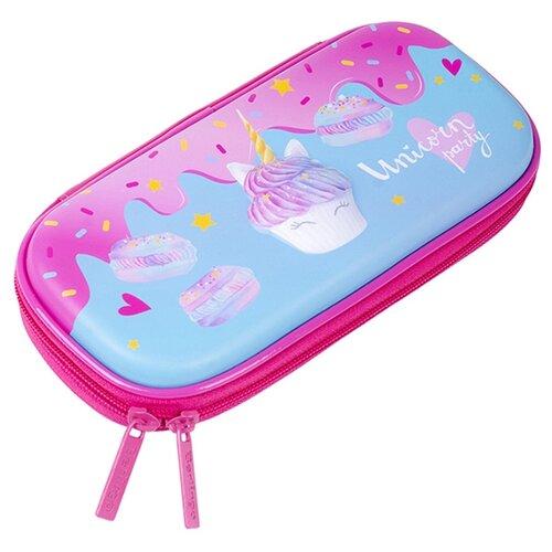 Купить Berlingo Пенал Unicorn party (EVA0701) голубой/розовый, Пеналы