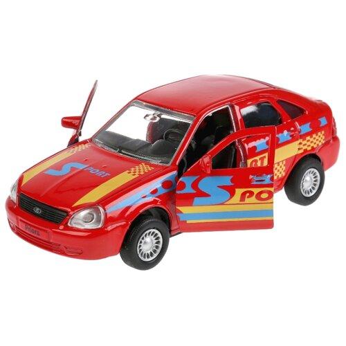 Купить Легковой автомобиль ТЕХНОПАРК LADA Priora хэтчбек (SB-18-22-LP(S)WB) 12 см красный, Машинки и техника