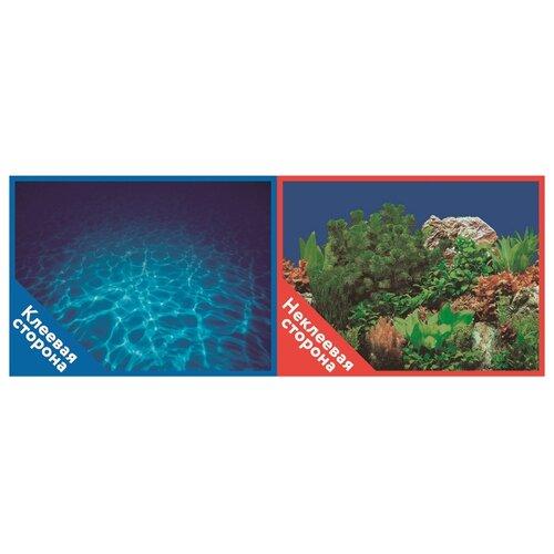 Пленочный фон Prime Синее море/Растительный пейзаж двухсторонний 50х100 см