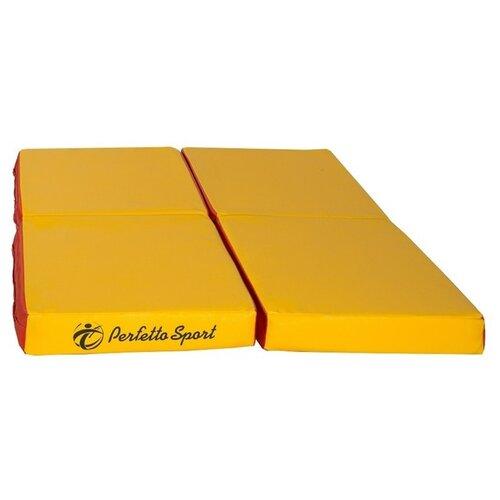 Спортивный мат 1000х1000х100 мм Perfetto Sport № 11 красно/жёлтый