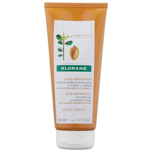 Klorane бальзам-ополаскиватель Питательный с маслом финика пустынного для сухих, ломких и поврежденных волос, 200 мл где купить шампунь klorane