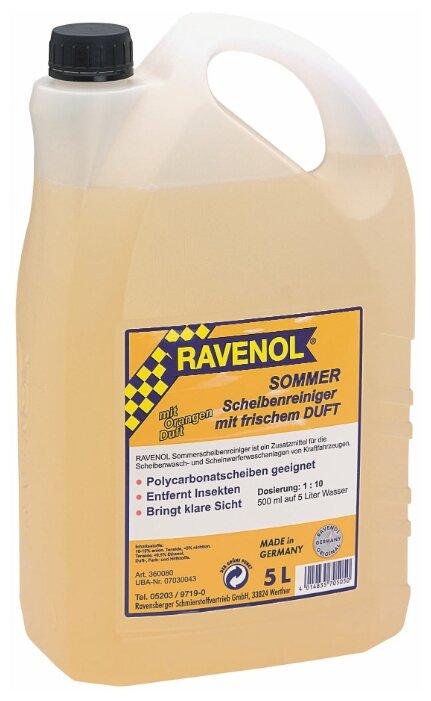 Жидкость для стеклоомывателя Ravenol 07030043, 5 л
