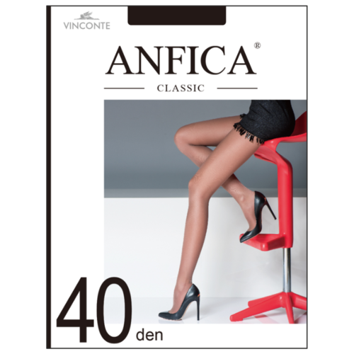 Колготки Anfica Classic 40 den, размер 4L, nero (черный) колготки anfica classic 30 den