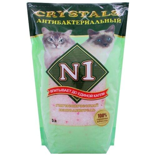 Впитывающий наполнитель N1 Crystals Антибактериальный 5 л