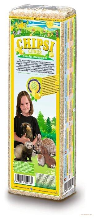Наполнитель древесный CHIPSI Цитрус 1 кг/15 л