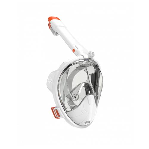 Набор для плавания BRADEX полнолицевой, размер S/M белый/оранжевый