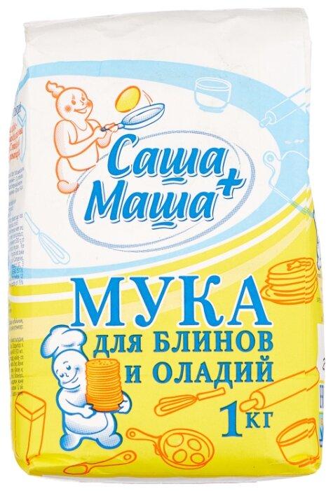 С.Пудовъ Мука для блинов и оладий Саша+Маша, 1 кг