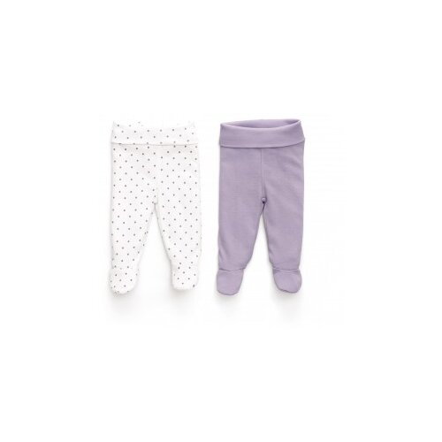 цена на Ползунки Happy Baby размер 74, белый/фиолетовый
