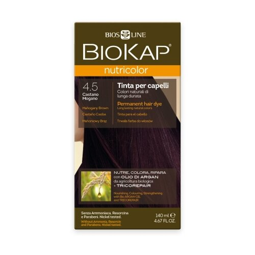 BioKap Nutricolor крем-краска для волос, 4.5 махагон