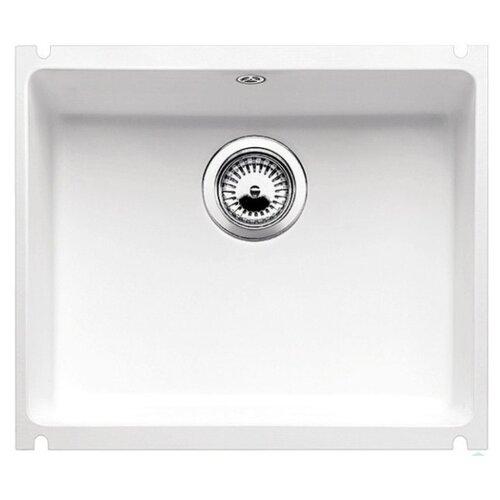 Врезная кухонная мойка 53 см Blanco Subline 500-U Ceramic PuraPlus 514506 глянцевый белый кухонная мойка blanco subline 500 u 514506