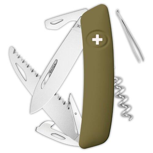 Нож многофункциональный SWIZA D05 Standard (12 функций) зеленый