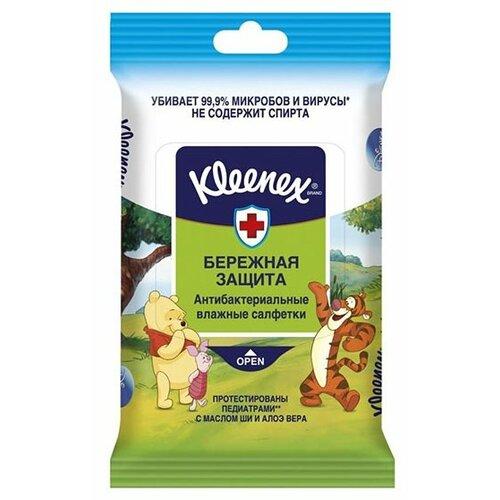 цена Влажные салфетки Kleenex Влажные салфетки Kleenex Бережная Защита Disney антибактериальные 10 шт. онлайн в 2017 году