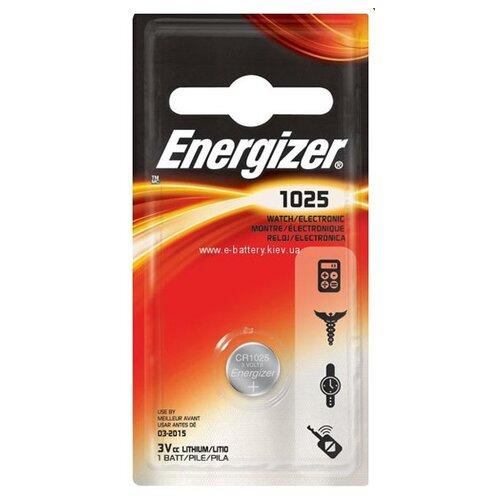 Фото - Батарейка Energizer Lithium CR1025, 3 V (1 штука) батарейка energizer max plus aa 4 шт