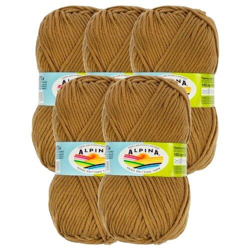 Купить Пряжа Alpina Marta, 100 % акрил, 100 г, 120 м, 5 шт., №029 св. коричневый