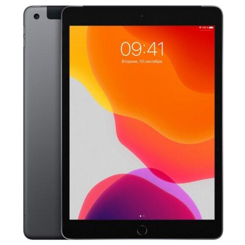 Планшет Apple iPad (2019) 32Gb Wi-Fi + Cellular space grey планшет apple ipad 10 2 2020 wi fi cellular 32gb space grey mymh2ru a