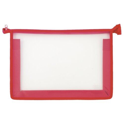 Пифагор Пифагор Папка для тетрадей А4, молния сверху, прозрачная красный папка для тетрадей а4 пифагор пластик молния сверху прозрачная красная 228208