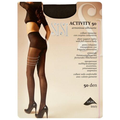 Колготки Sisi Activity 50 den, размер 4-L, grafite (серый) колготки sisi miss 15 den размер 4 l grafite серый