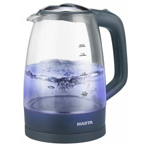 Чайник MARTA MT-1097, серый мрамор электрический чайник marta mt 1083 dark topaz