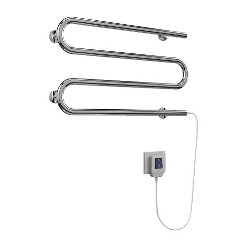 Электрический полотенцесушитель TERMINUS М-образный 25 ПСЭ 600x375 нержавеющая сталь