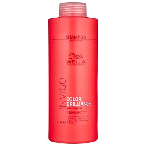 Wella Professionals шампунь Invigo Color Brilliance для нормальных и тонких волос 1000 мл wella professionals age line укрепляющий шампунь для ослабленных волос 250мл