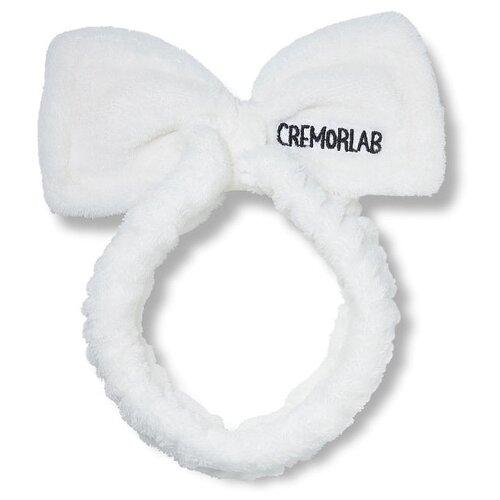 Повязка Cremorlab Ушки бантиком белый