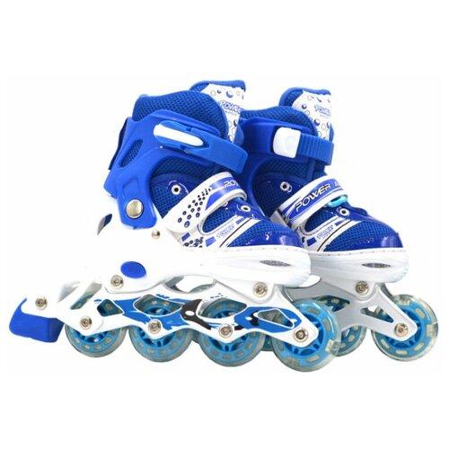 Фото - Раздвижные роликовые коньки Navigator колеса ПВХ, со светом р. 39 – 42 navigator скейт navigator пластиковый светящиеся колеса в ассорт