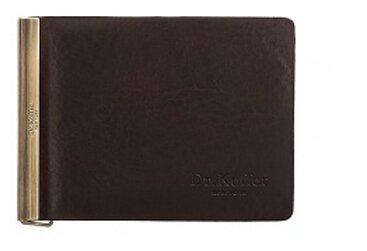 Купить Зажим для купюр Dr.Koffer X510339-108, натуральная кожа темно-коричневый по низкой цене с доставкой из Яндекс.Маркета (бывший Беру)