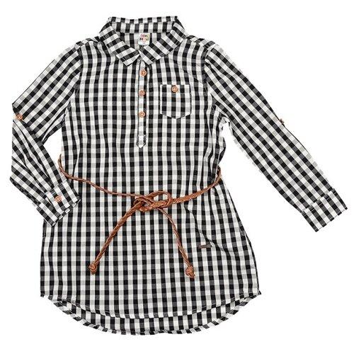 Купить Платье Mini Maxi размер 110, серый/клетка, Платья и сарафаны