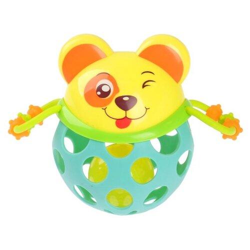 Купить Погремушка Крошка Я Собачка 2932042 голубой/желтый, Погремушки и прорезыватели